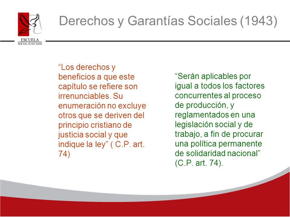 Derechos y Garantías Sociales (1943)