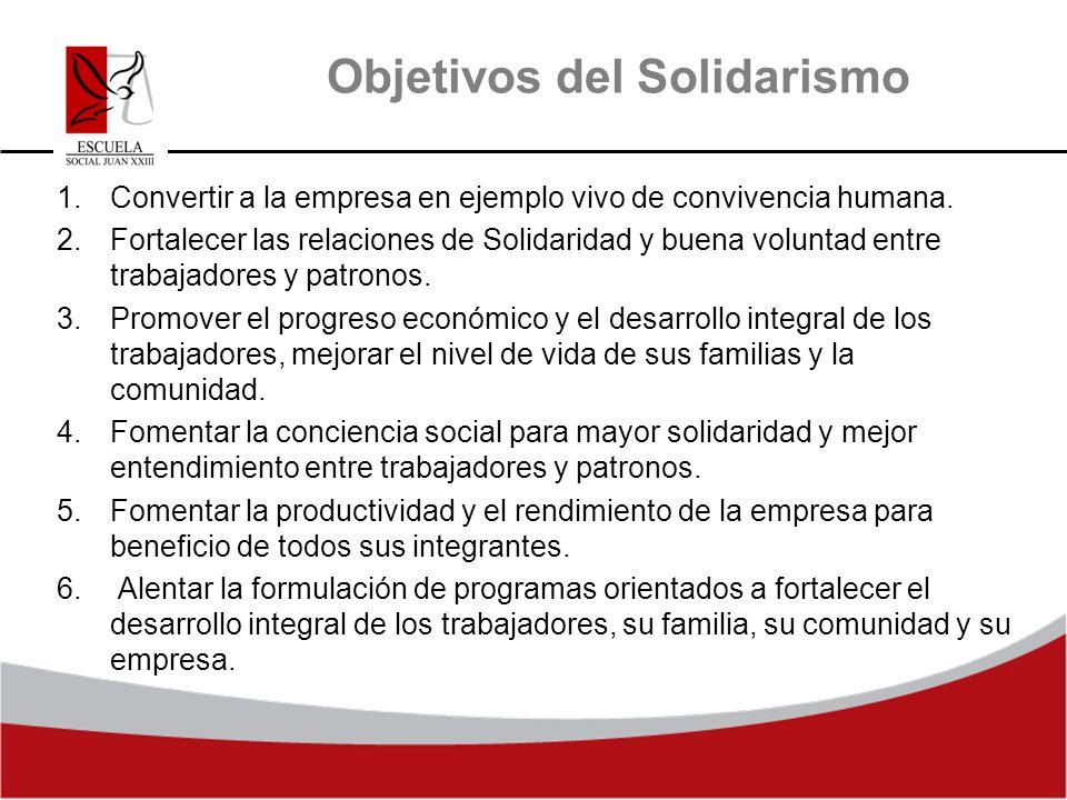 Objetivos del Solidarismo