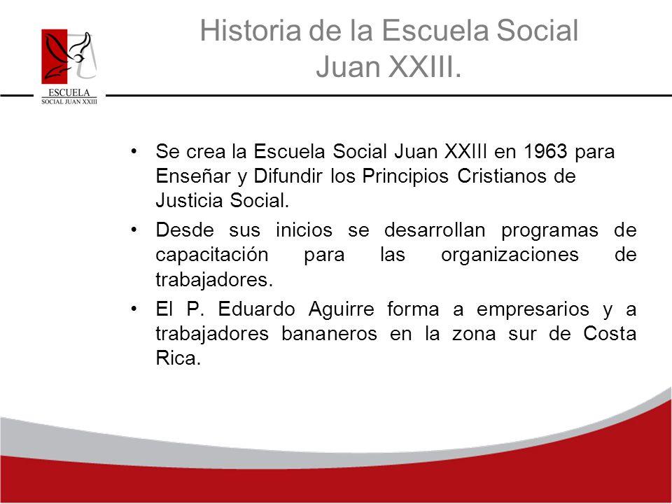 Historia de la Escuela Social Juan XXIII.