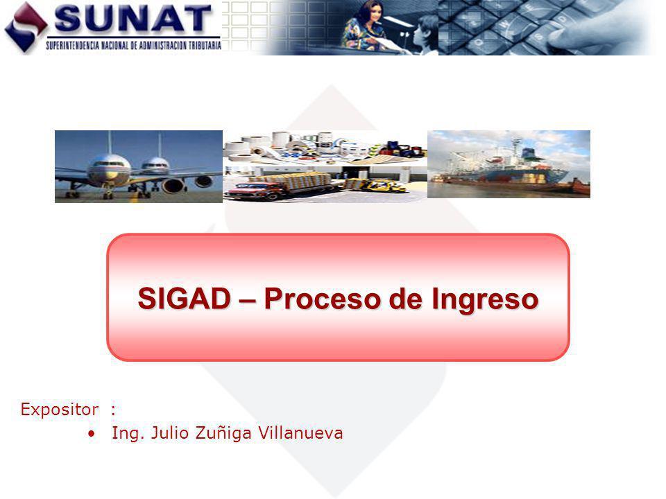 SIGAD – Proceso de Ingreso