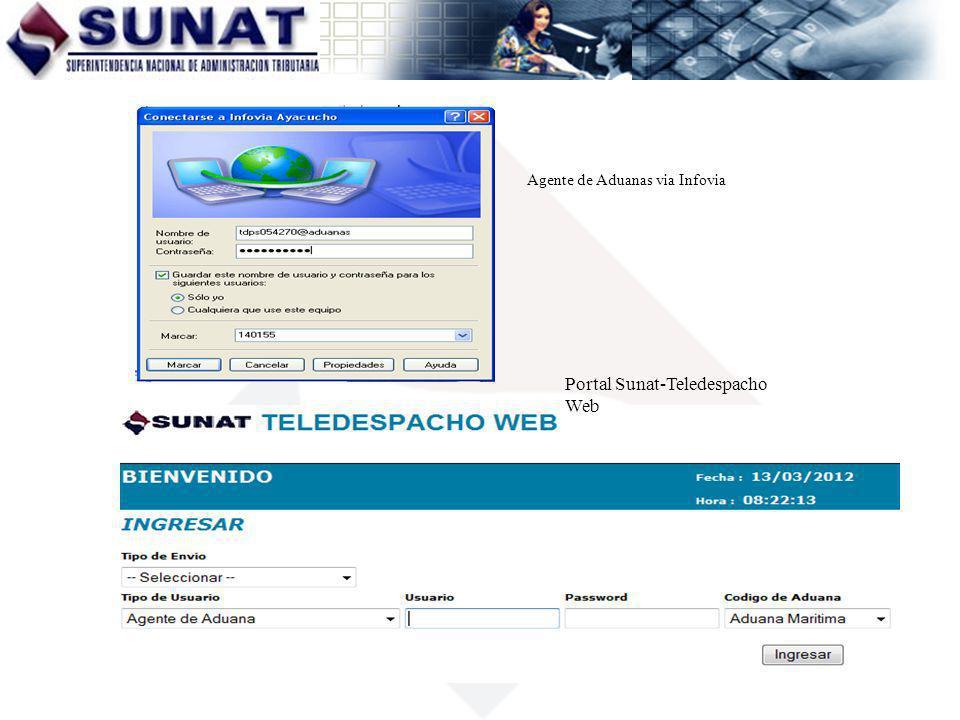 Portal Sunat-Teledespacho Web