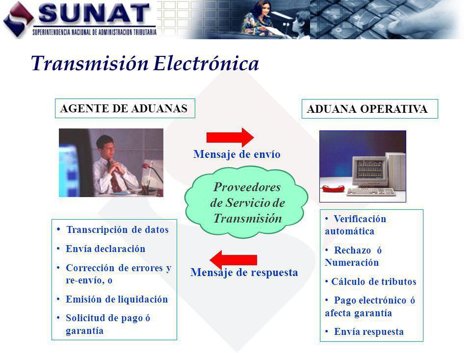 Proveedores de Servicio de Transmisión