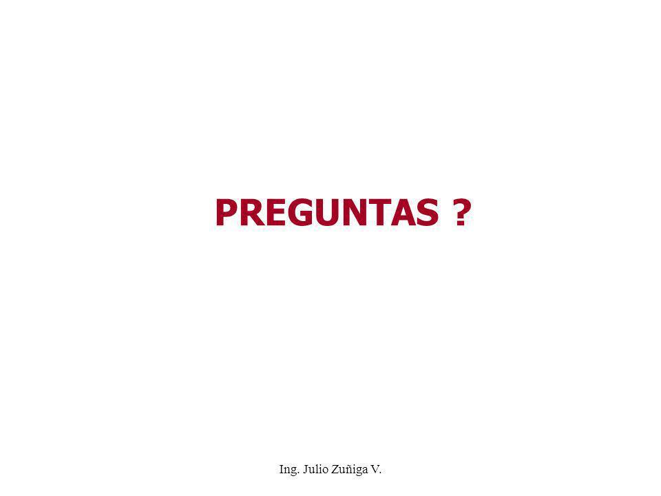 PREGUNTAS Ing. Julio Zuñiga V.