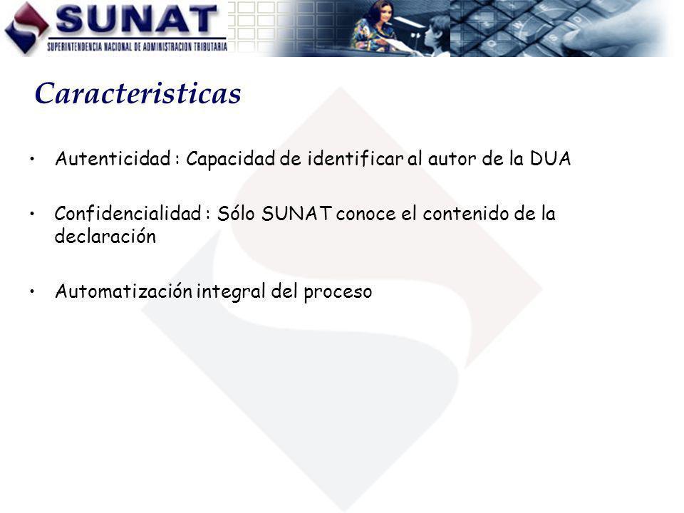 Ing. Julio Zuñiga V Caracteristicas. Autenticidad : Capacidad de identificar al autor de la DUA.