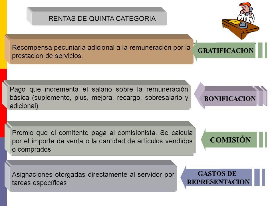 COMISIÓN RENTAS DE QUINTA CATEGORIA