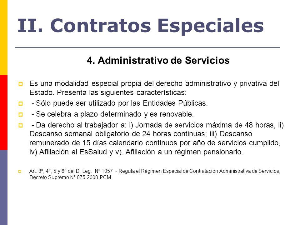 II. Contratos Especiales