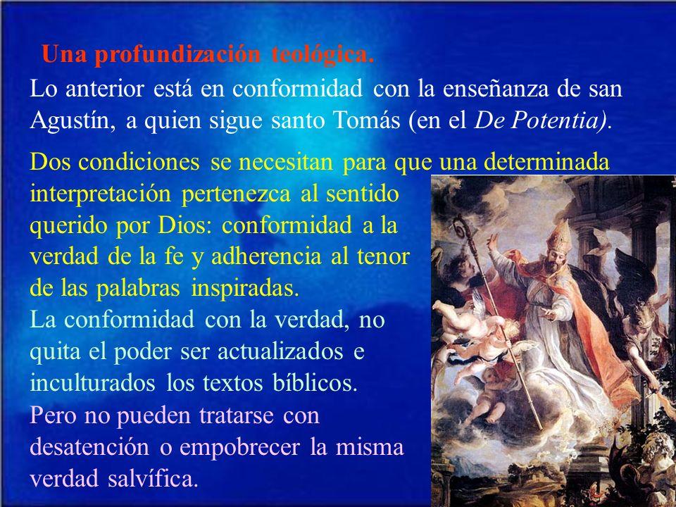 Una profundización teológica.