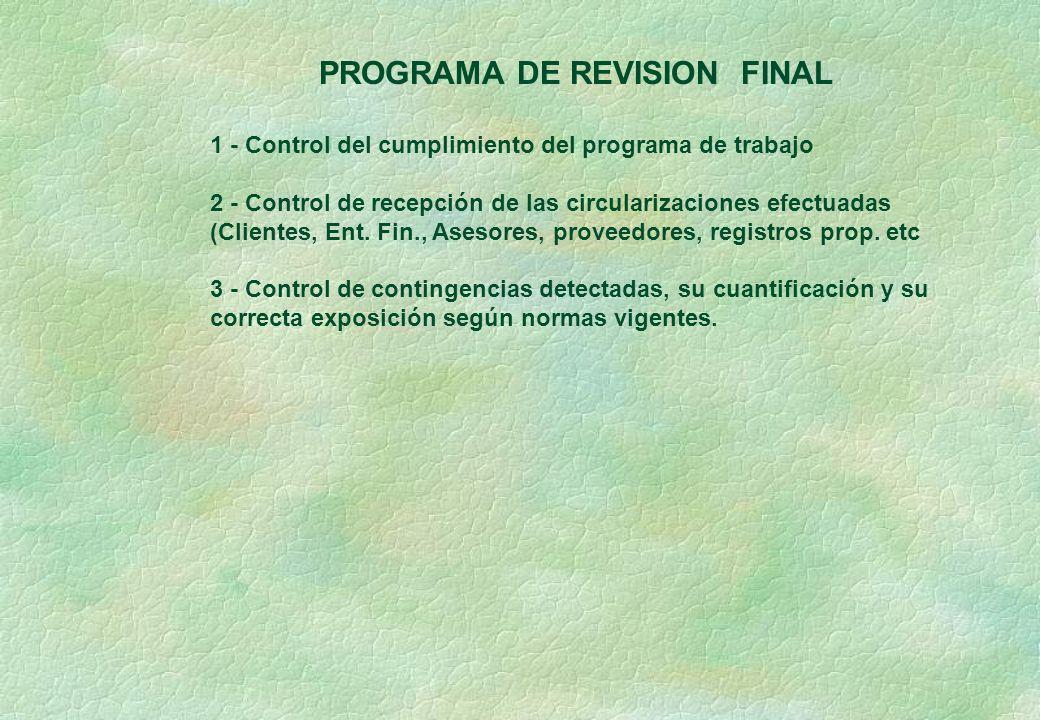 PROGRAMA DE REVISION FINAL
