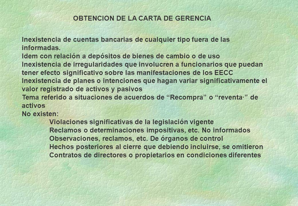 OBTENCION DE LA CARTA DE GERENCIA
