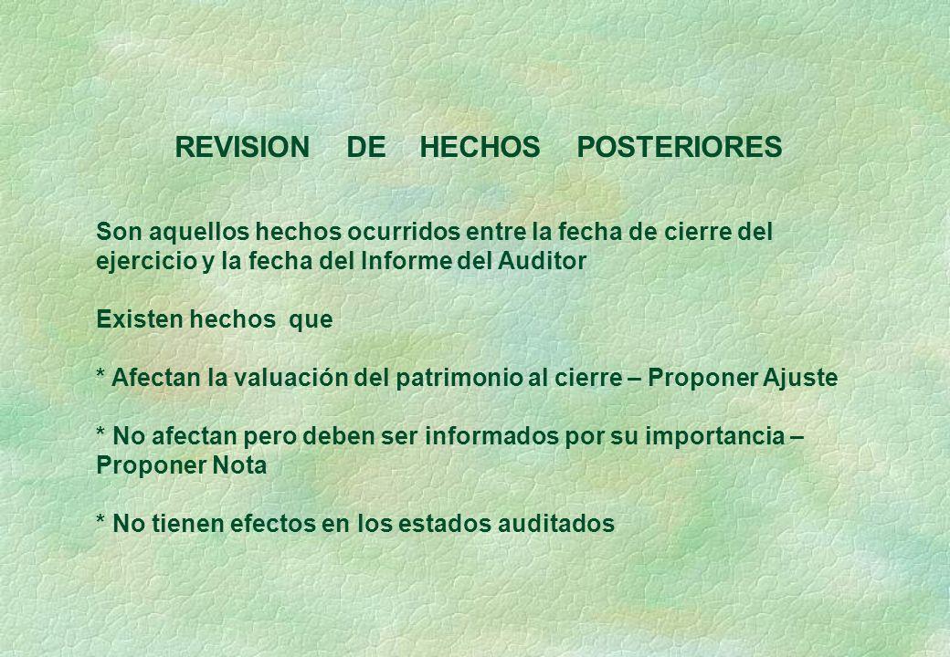 REVISION DE HECHOS POSTERIORES
