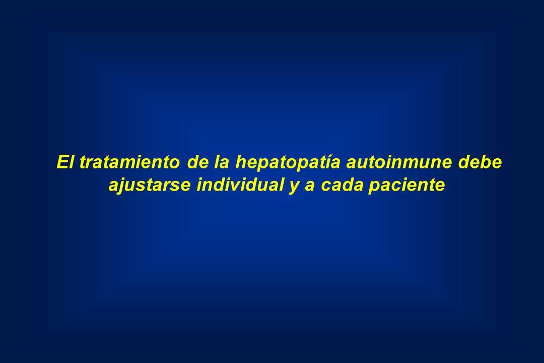 El tratamiento de la hepatopatía autoinmune debe
