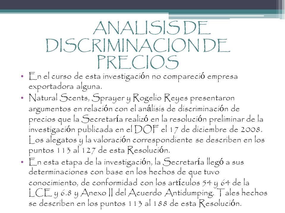 ANALISIS DE DISCRIMINACION DE PRECIOS