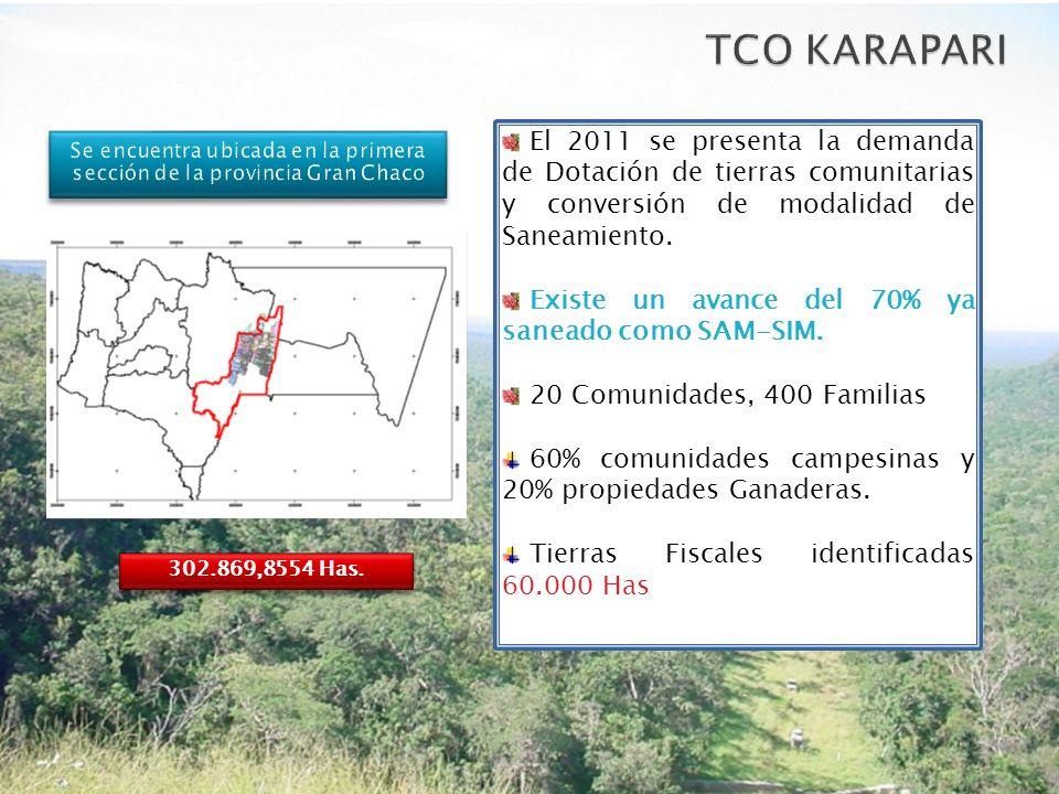 Se encuentra ubicada en la primera sección de la provincia Gran Chaco