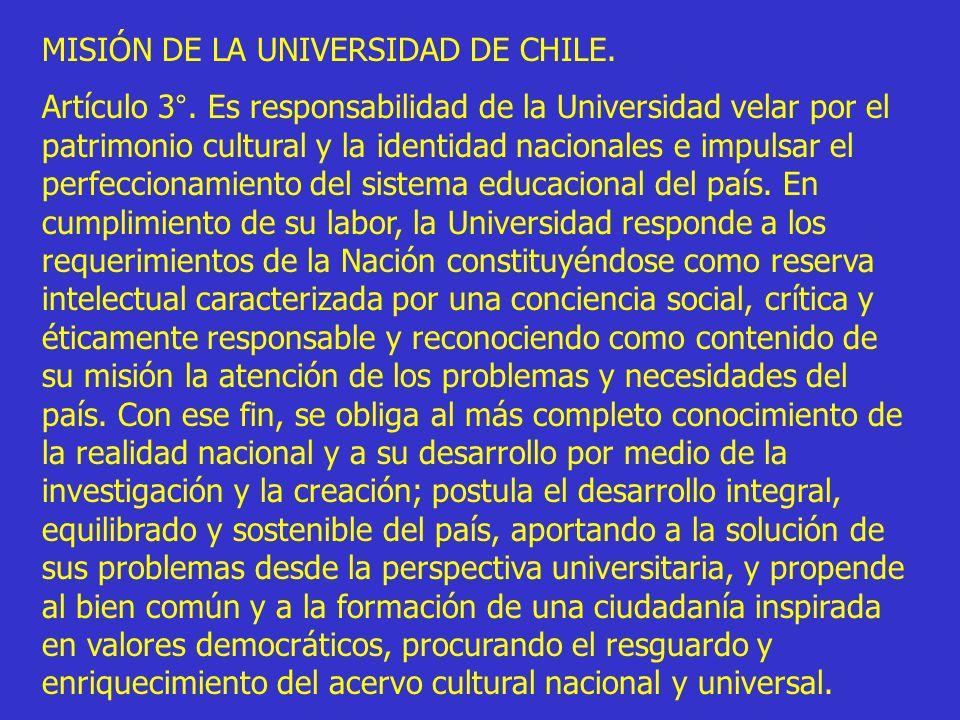 MISIÓN DE LA UNIVERSIDAD DE CHILE.