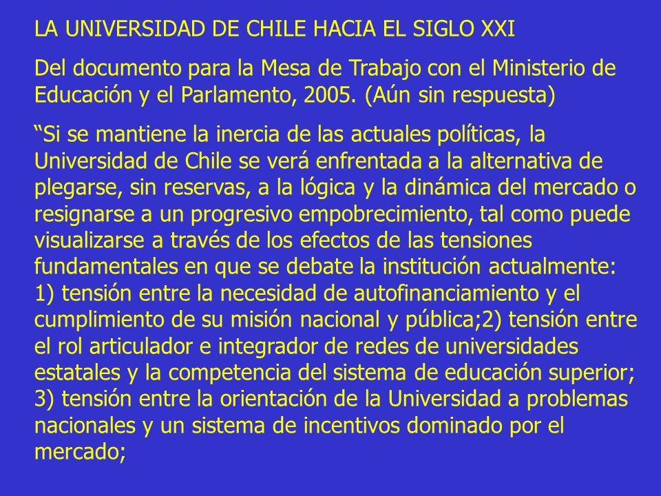 LA UNIVERSIDAD DE CHILE HACIA EL SIGLO XXI