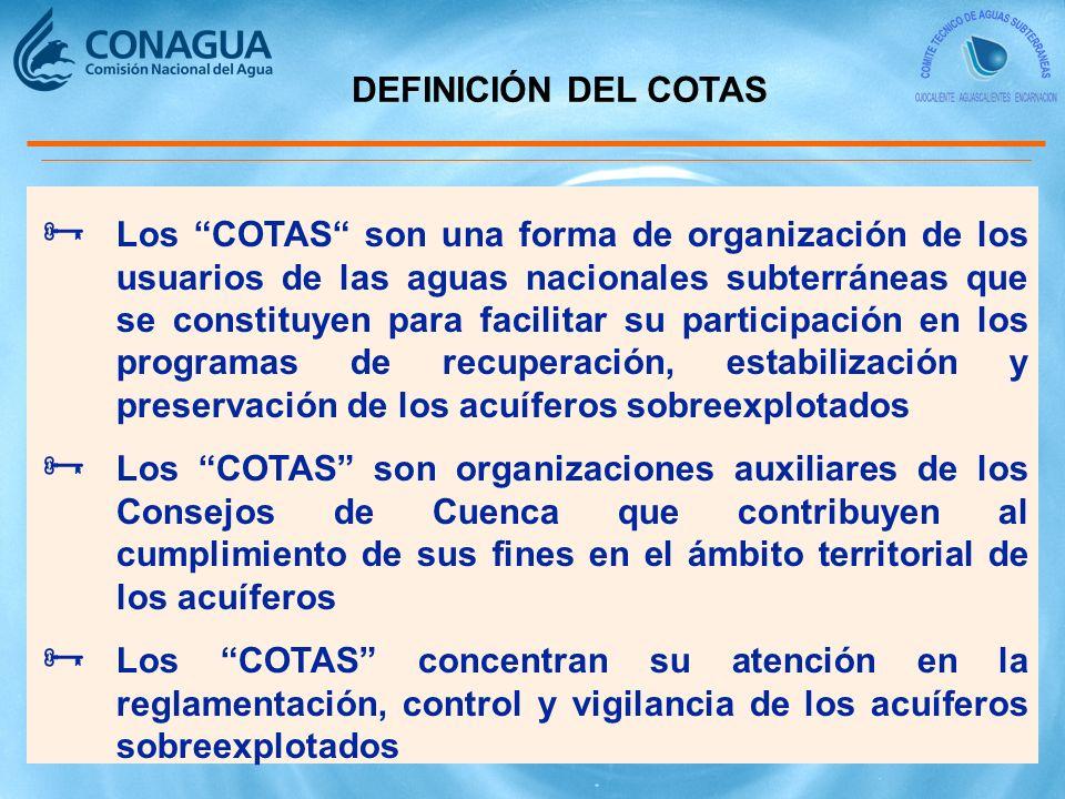 DEFINICIÓN DEL COTAS