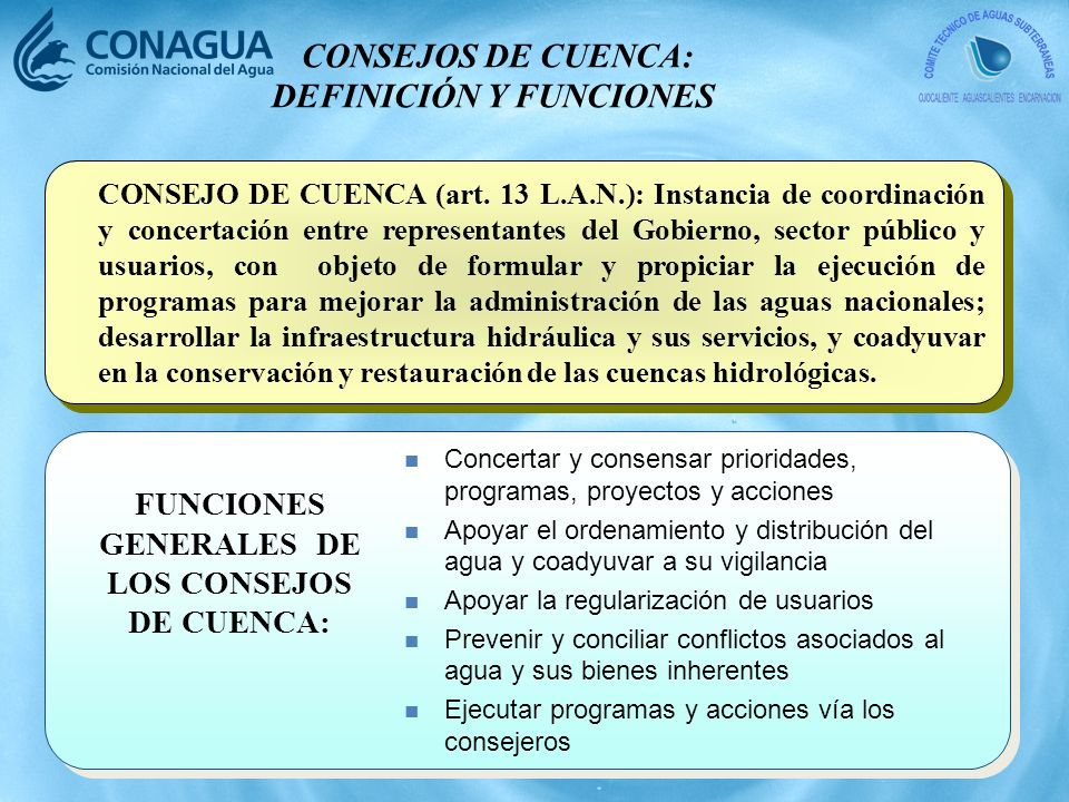 CONSEJOS DE CUENCA: DEFINICIÓN Y FUNCIONES