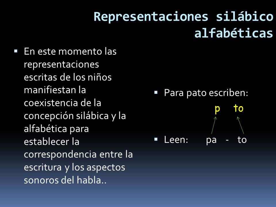 Representaciones silábico alfabéticas