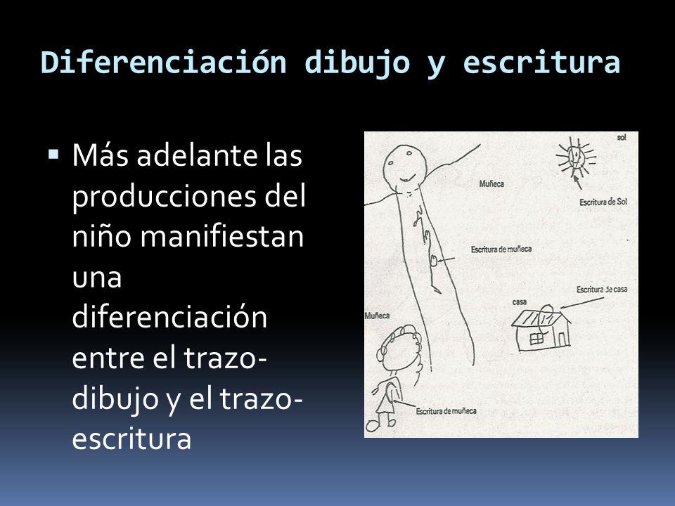 Diferenciación dibujo y escritura