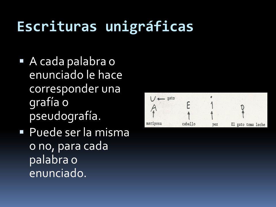 Escrituras unigráficas