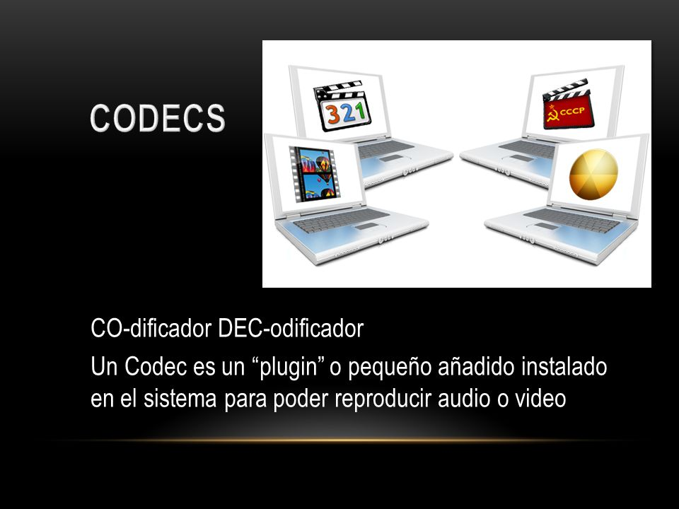 CODECS CO-dificador DEC-odificador