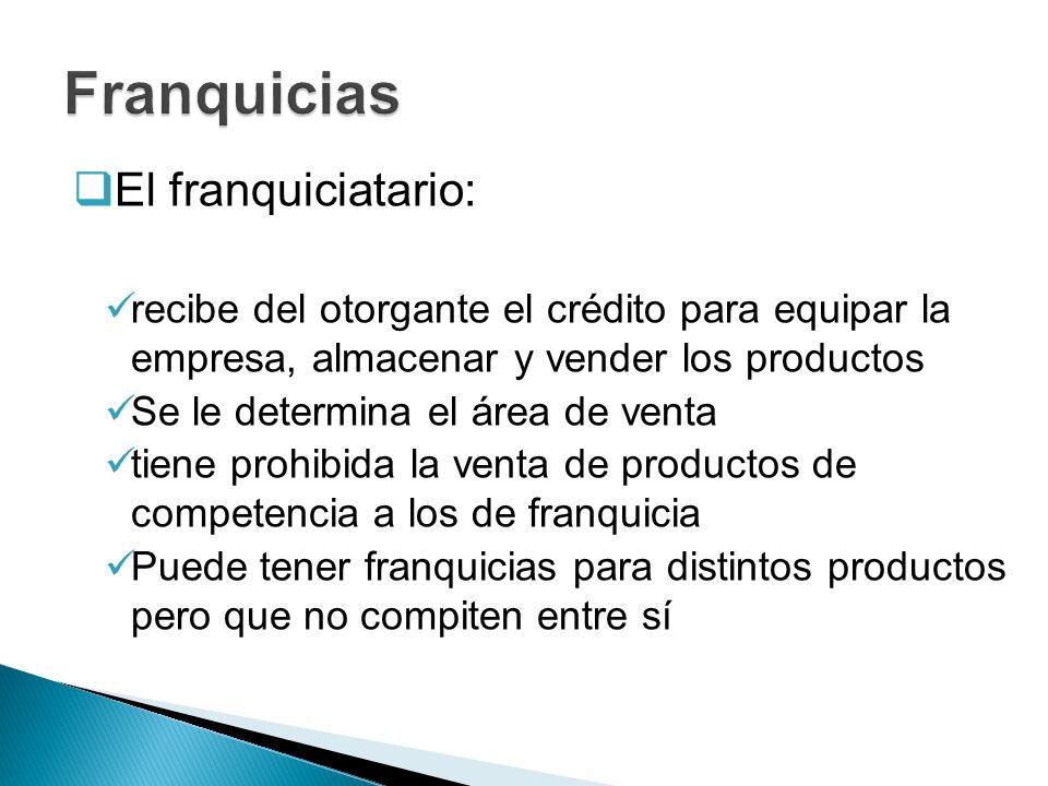 Franquicias El franquiciatario: