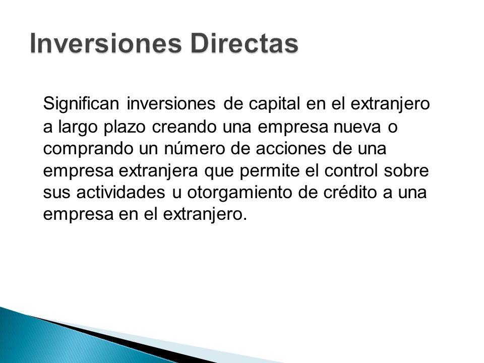 Inversiones Directas