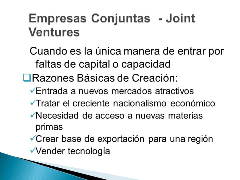 Empresas Conjuntas - Joint Ventures