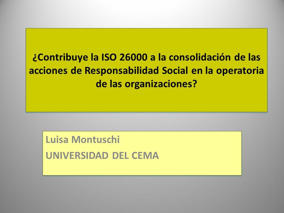 Luisa Montuschi UNIVERSIDAD DEL CEMA