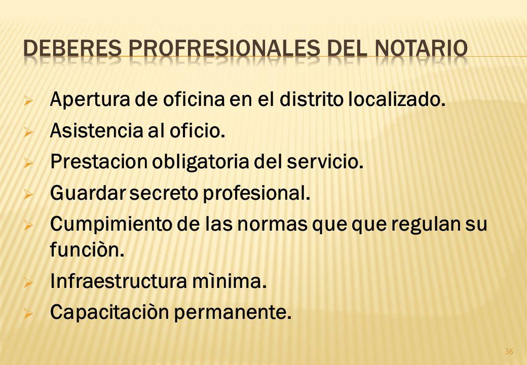Deberes profresionales del notario