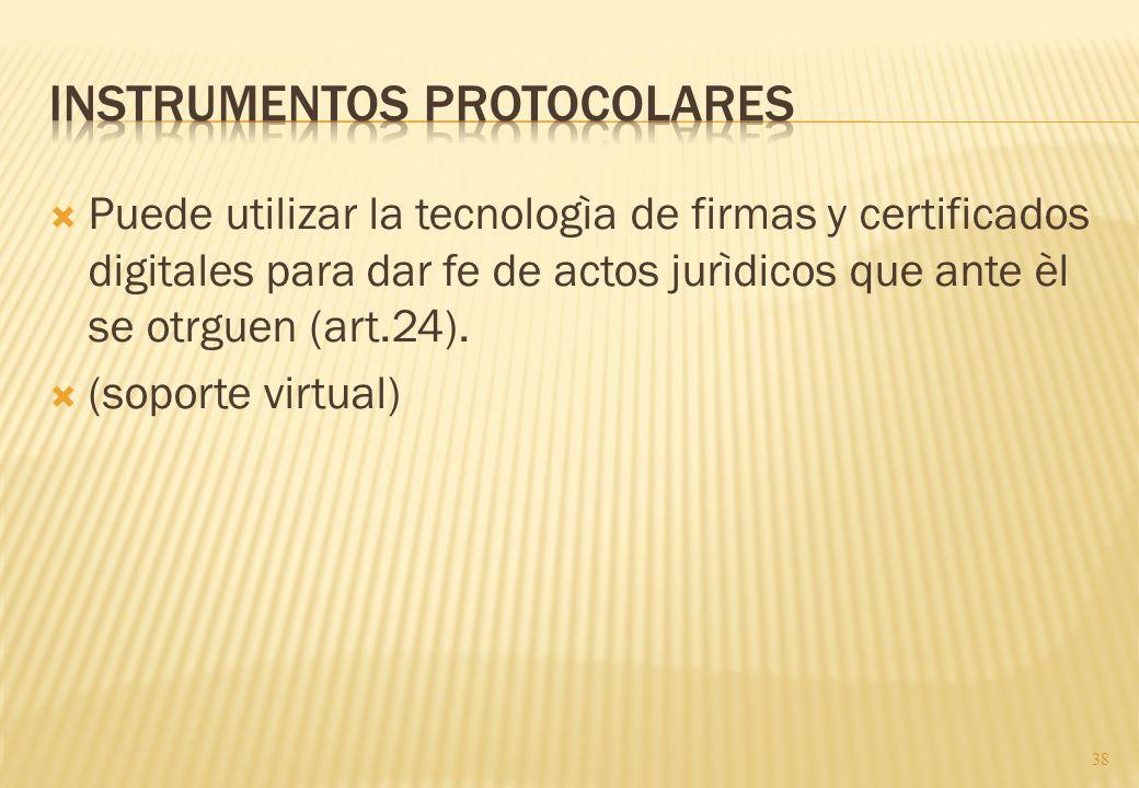 Instrumentos protocolares