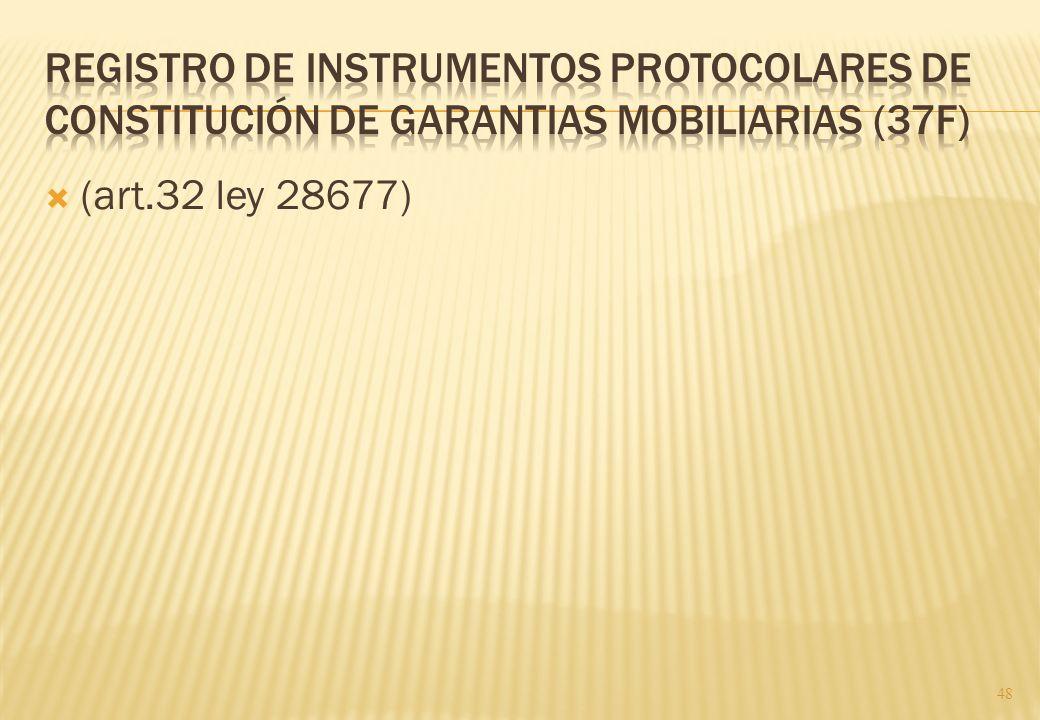 Registro de instrumentos protocolares de constitución de garantias mobiliarias (37F)