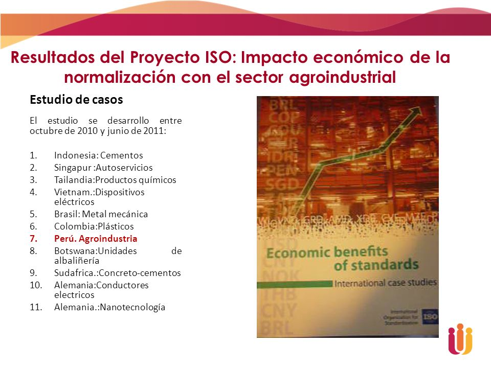 Resultados del Proyecto ISO: Impacto económico de la normalización con el sector agroindustrial