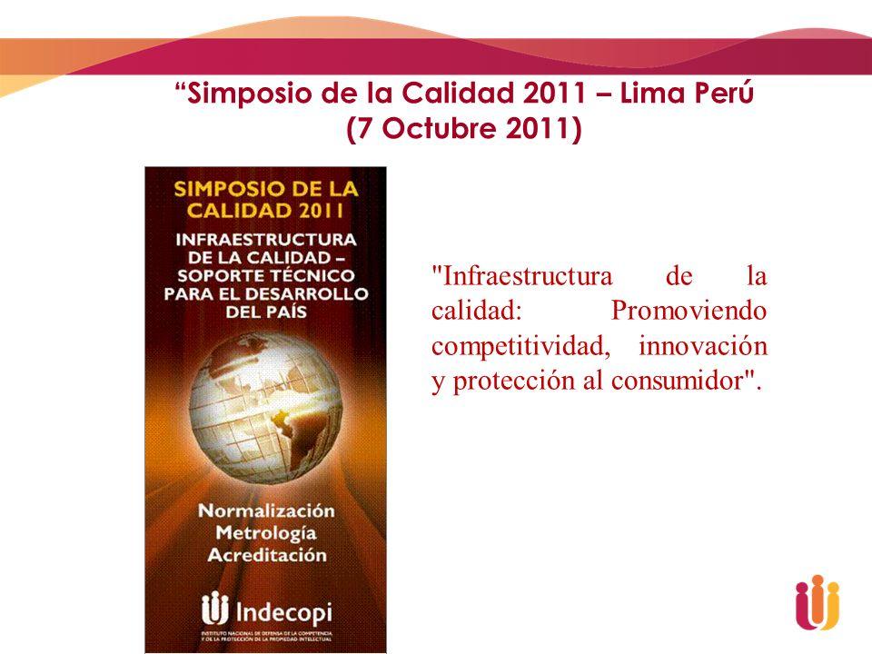 Simposio de la Calidad 2011 – Lima Perú