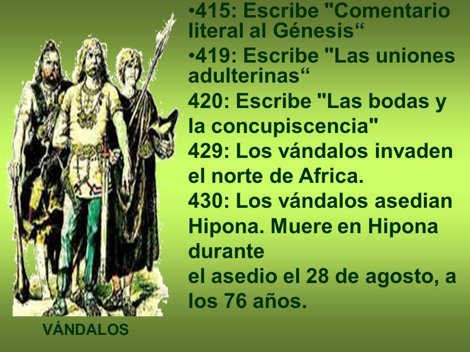 415: Escribe Comentario literal al Génesis