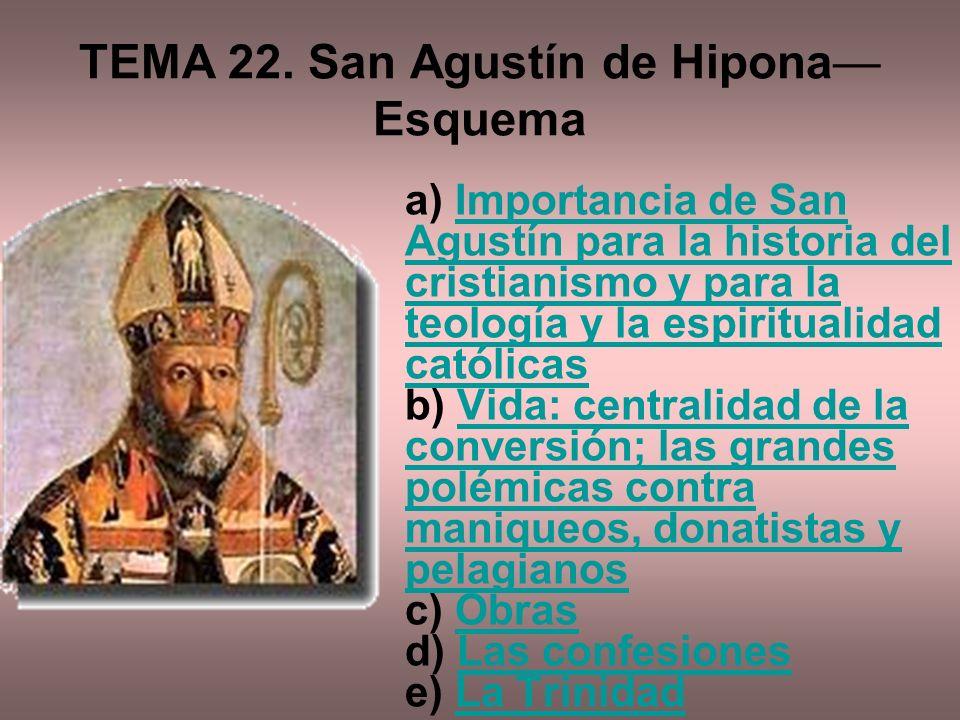 TEMA 22. San Agustín de Hipona—Esquema