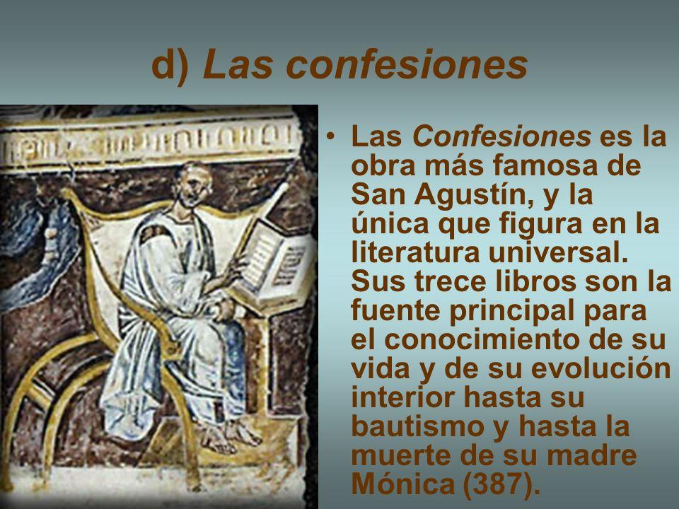 d) Las confesiones