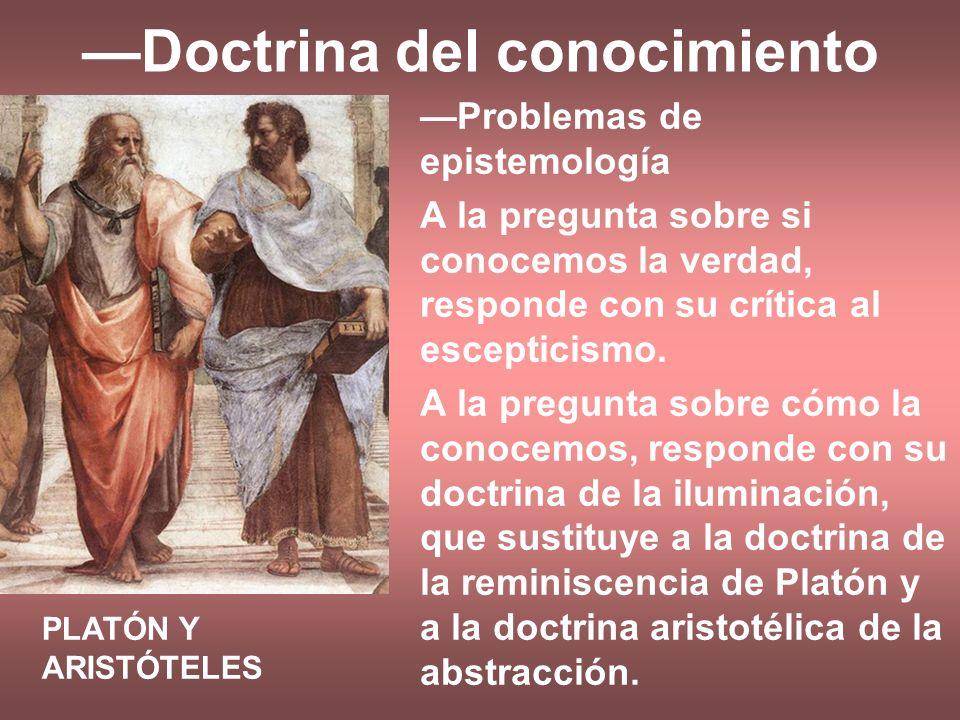 —Doctrina del conocimiento