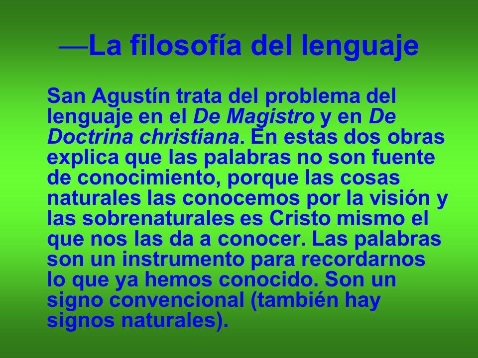 —La filosofía del lenguaje