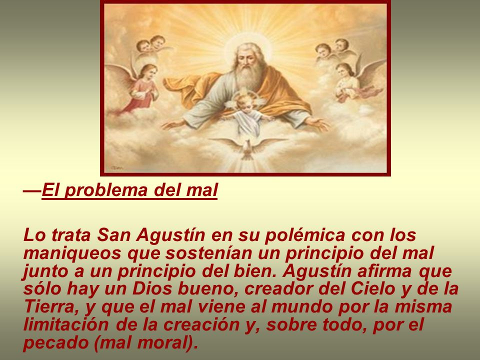 —El problema del mal
