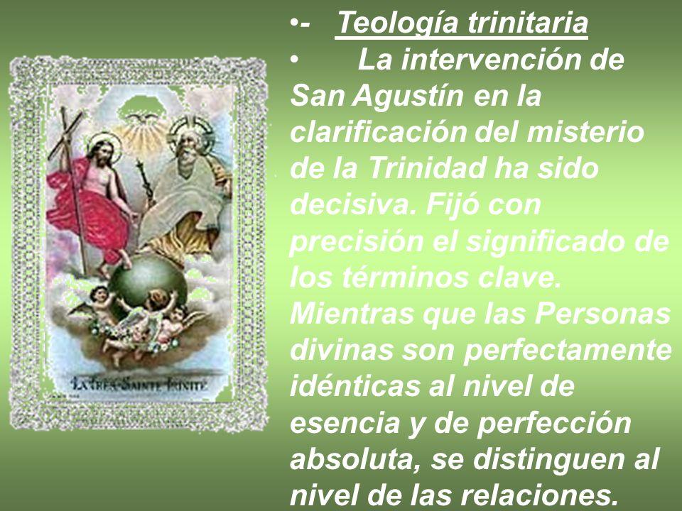 - Teología trinitaria