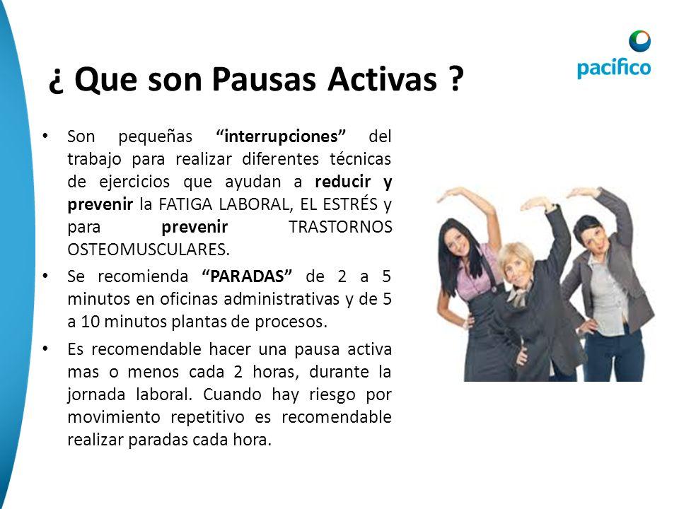 ¿ Que son Pausas Activas