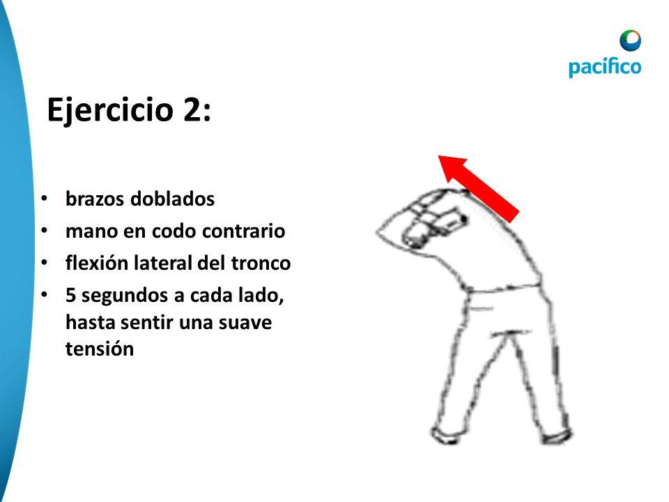 Ejercicio 2: brazos doblados mano en codo contrario