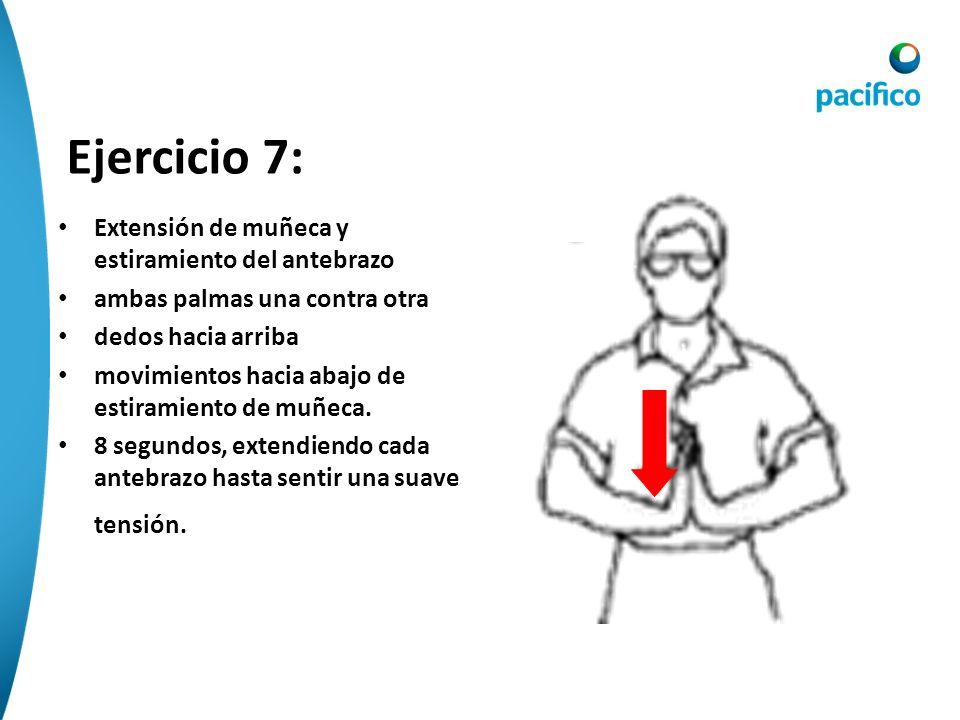 Ejercicio 7: Extensión de muñeca y estiramiento del antebrazo