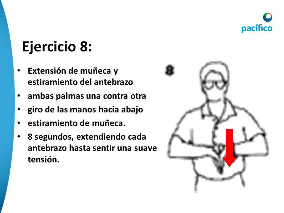 Ejercicio 8: Extensión de muñeca y estiramiento del antebrazo