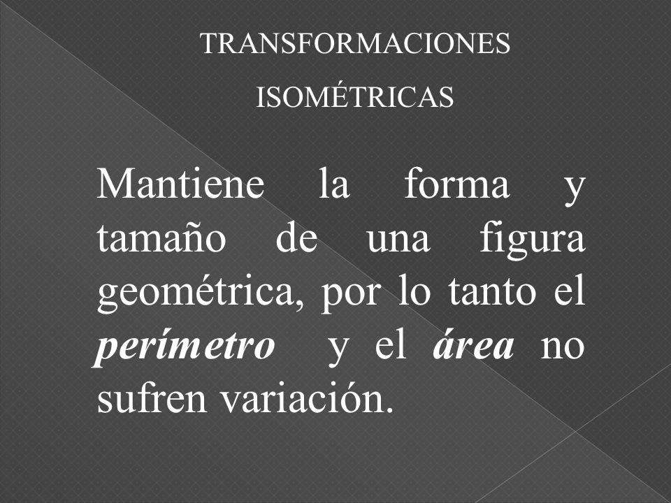 TRANSFORMACIONES ISOMÉTRICAS.