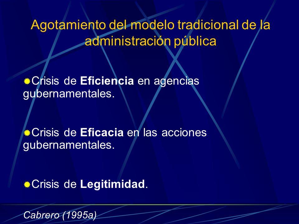 Agotamiento del modelo tradicional de la administración pública