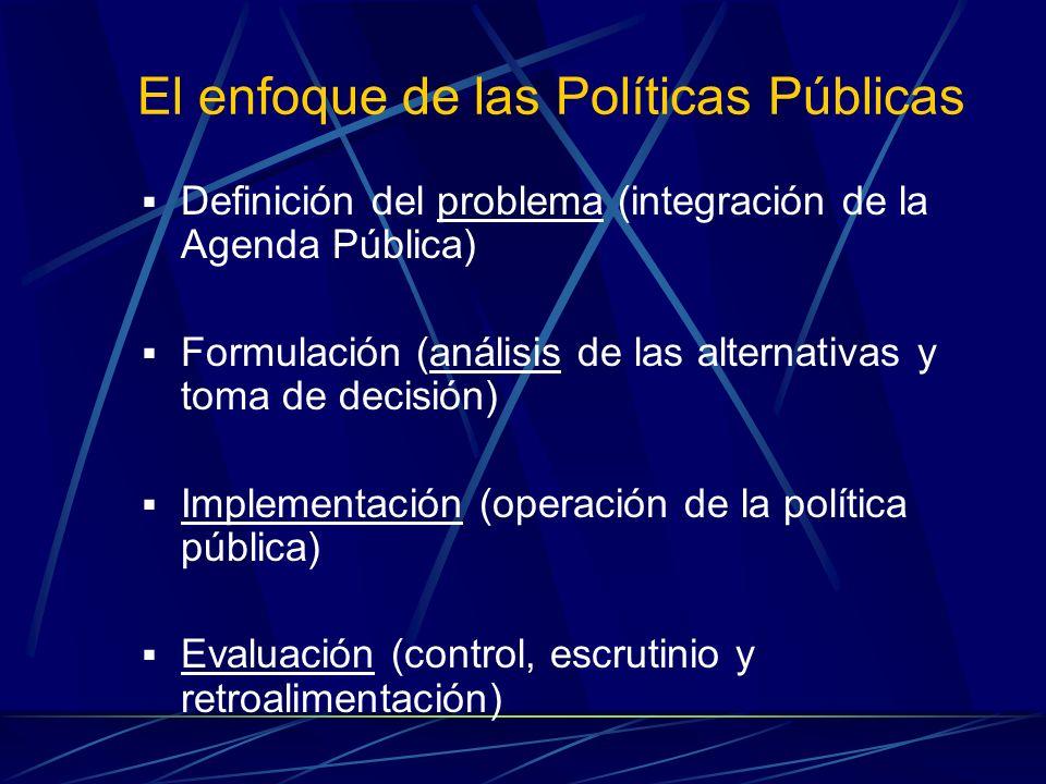 El enfoque de las Políticas Públicas