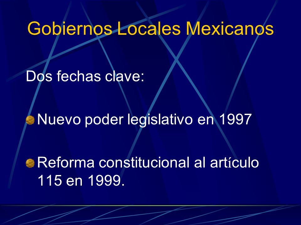 Gobiernos Locales Mexicanos