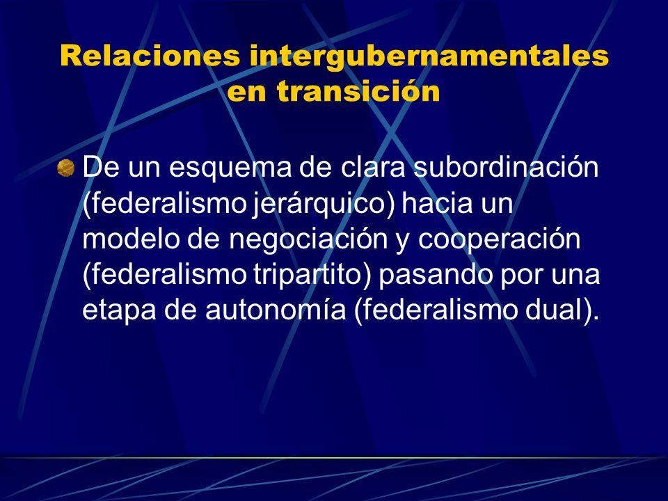 Relaciones intergubernamentales en transición